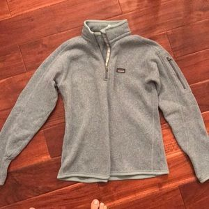 Patagonia fleece (turquoise color)